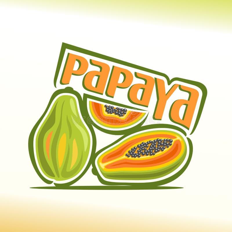 Vektorillustration på temat av papayaen royaltyfri illustrationer