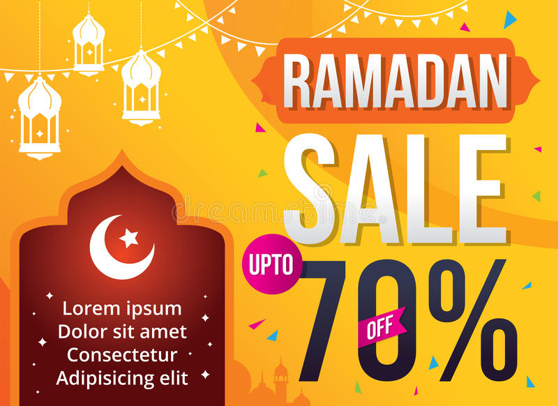 Vektorillustration Ramadan Sale stock illustrationer