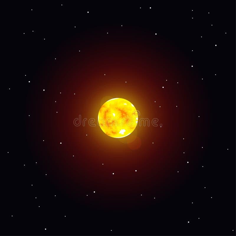 Vektorillustration Sonnensystemgegenstand, Sun stock abbildung