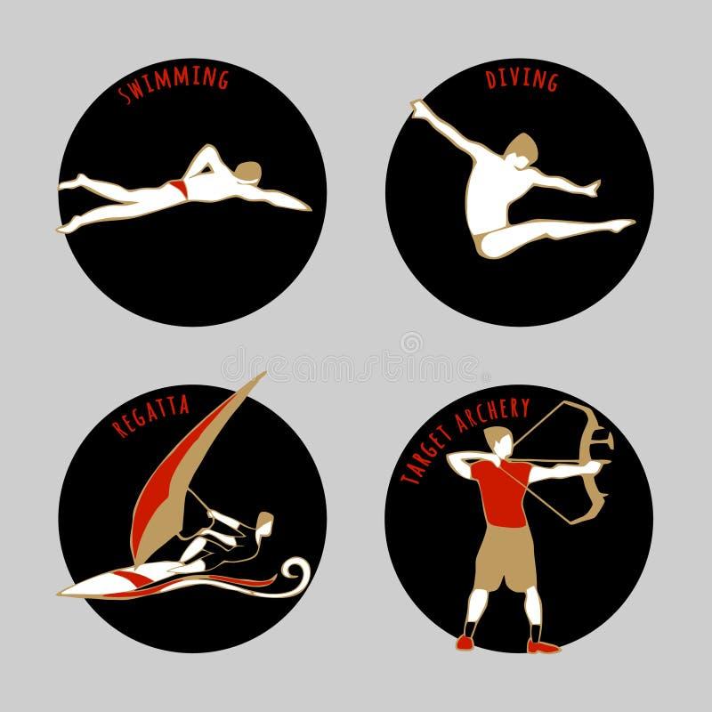 Vektorillustration von Athleten vektor abbildung