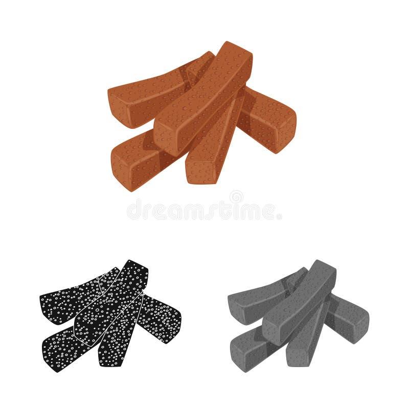 Vektorillustration von Croutons und von Brotlogo Stellen Sie Vektorillustration der Croutons und der Cracker von der auf Lager ei vektor abbildung