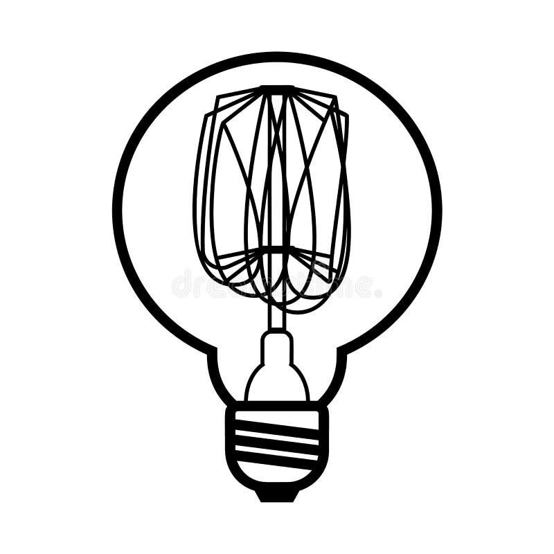 Vektorillustration von Edison-Birne stock abbildung