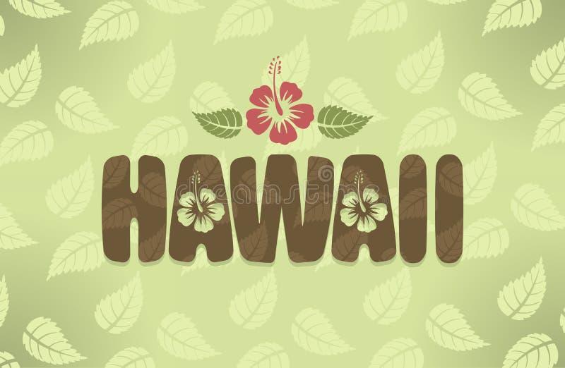 Vektorillustration von Hawaii in den Weinlesefarben vektor abbildung
