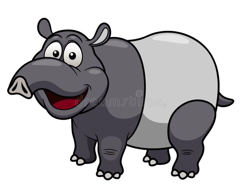 Karikatur Tapir stock abbildung