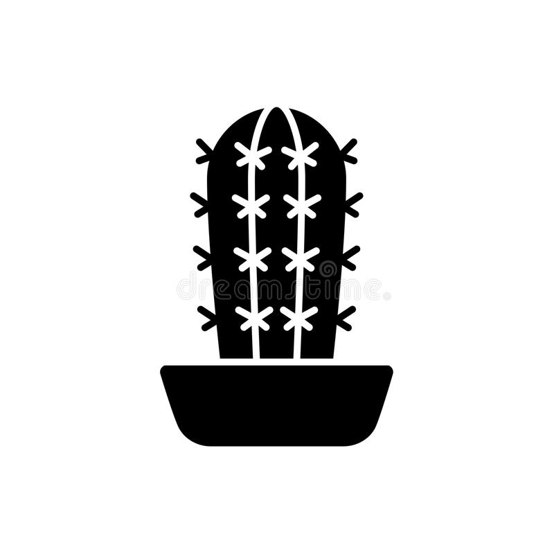 Vektorillustration von pachycereus Kaktus Flache Ikone von Wüste s vektor abbildung