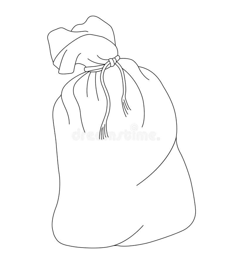Vektorillustration von Sack voll lokalisiert auf weißem Hintergrund stock abbildung