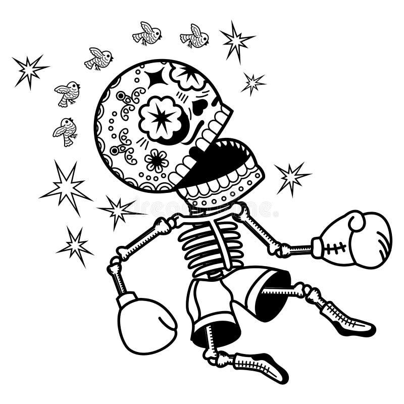 Vektorillustration von Skeletten lizenzfreie abbildung