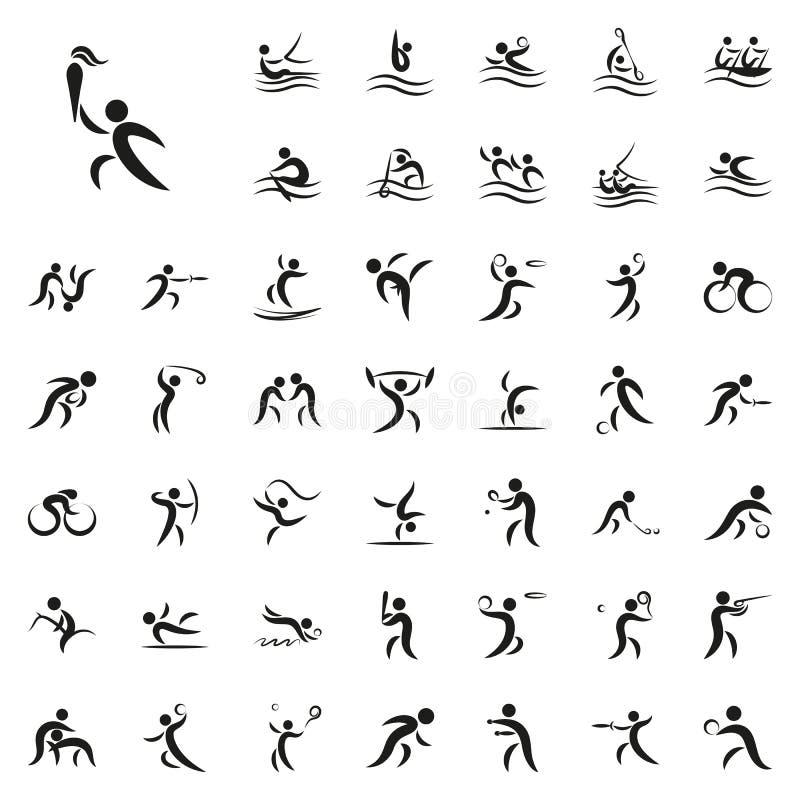 Vektorillustration von Sommersportspielen stockfotos