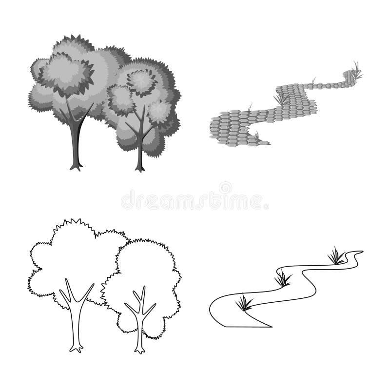 Vektorillustration von st?dtischem und von Stra?enschild Sammlung des st?dtischem und Entspannungsaktiensymbols f?r Netz vektor abbildung