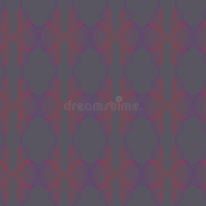 Vektorillustration von stilisierten abstrakten gemischten, verdrahteten Formen stock abbildung