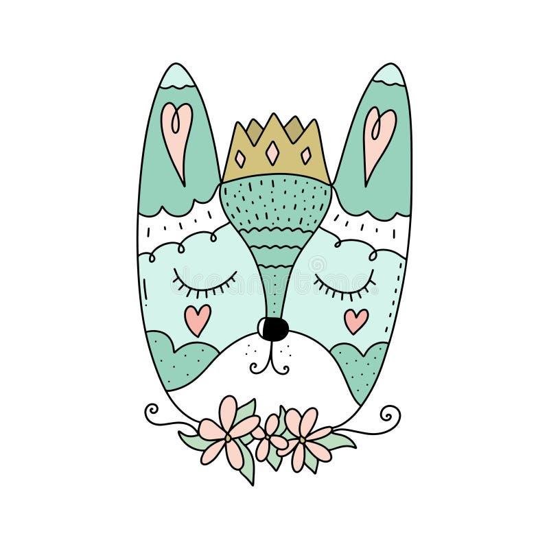 Vektorillustration wenigen netten Kaninchens Getrennt auf weißem Hintergrund vektor abbildung