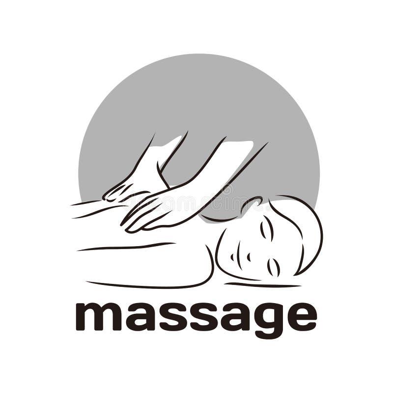 Vektorillustrationbegreppet av massagekroppen kopplar av symbol royaltyfria foton