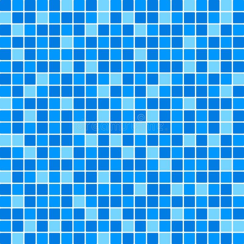 Blått belägger med tegel väggen stock illustrationer