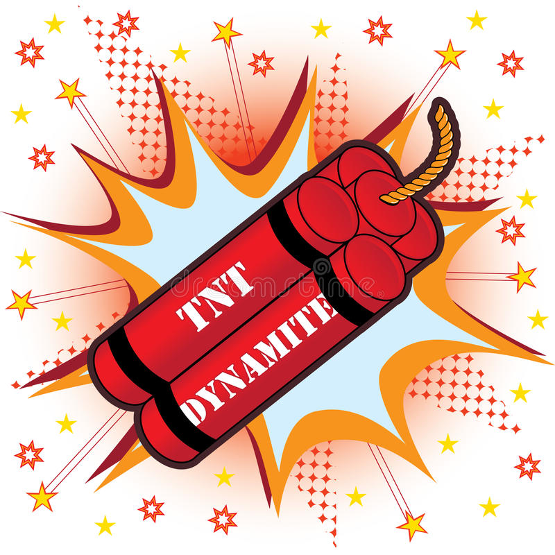 Tnt dynamit stock illustrationer