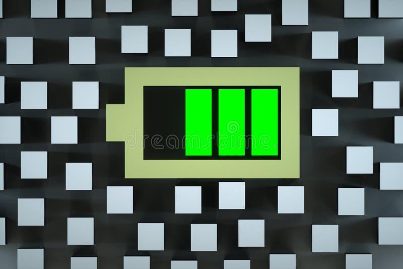 Batteriet jämnar uppsättningen stock illustrationer