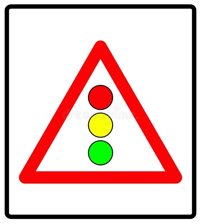 Vektorillustrationen av trafikljus undertecknar isolerat på vit bakgrund royaltyfri illustrationer