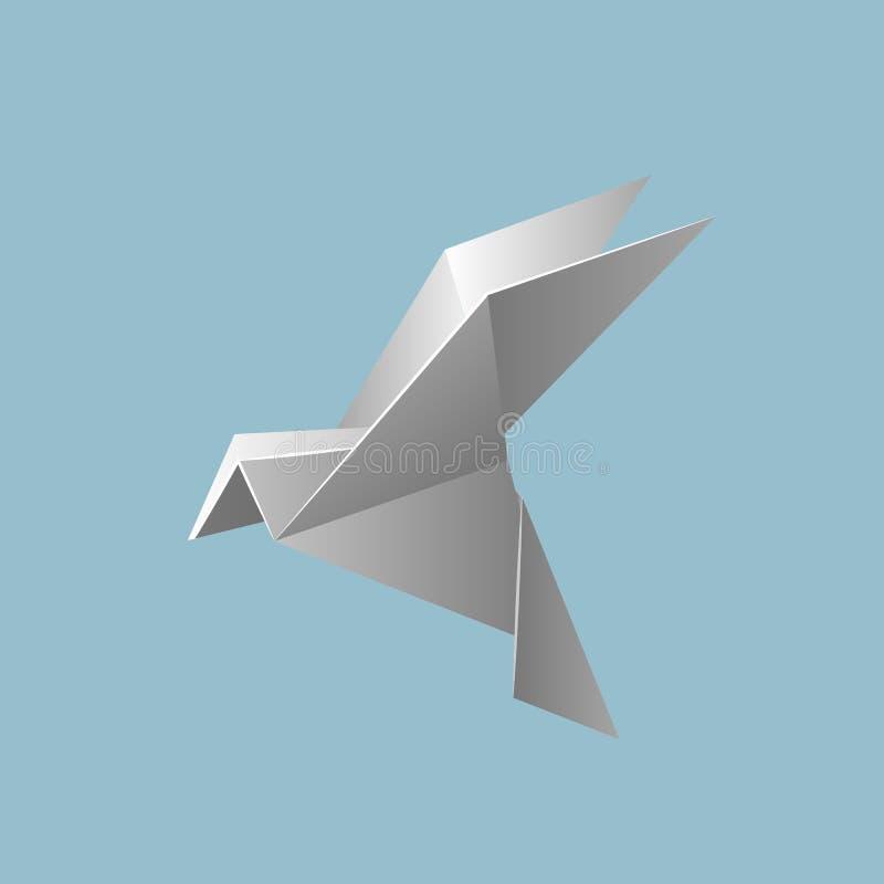 Vektorillustrationen mit Origami lizenzfreie abbildung