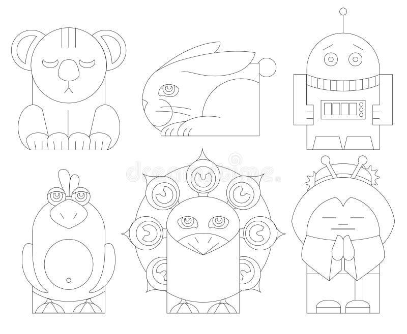 Räcka dockatoystecken vektorillustrationer royaltyfri illustrationer