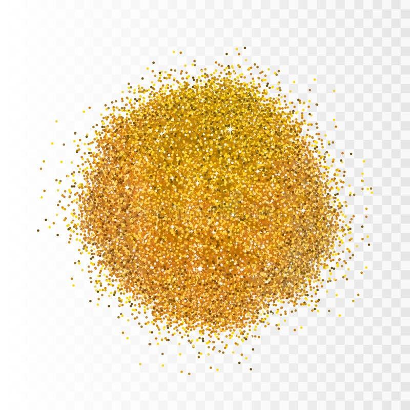 Vektorillustrationguld mousserar på genomskinlig bakgrund blänka bakgrund Guld- bakgrund för kort, vip, artikel med ensamrätt, vektor illustrationer