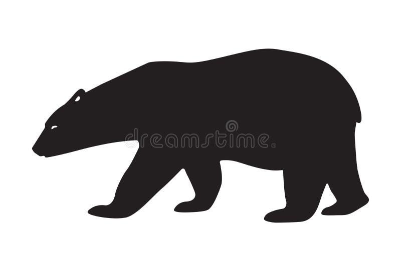 Vektorillustrationisbjörn Programmerbar laser-skärare stock illustrationer