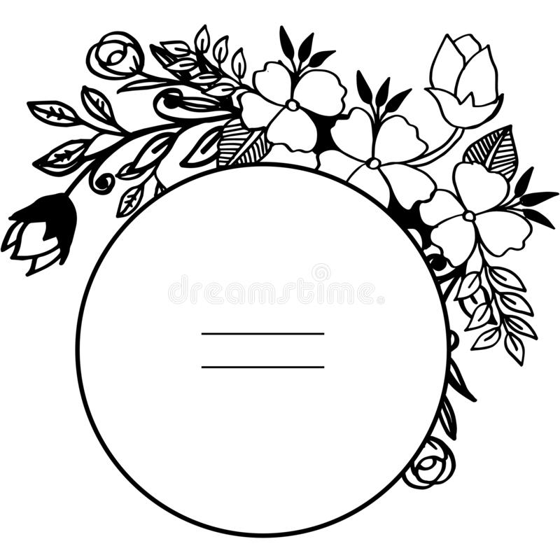 Vektorillustrations-Blattkranz gestaltet Blüte mit Grußkarte stock abbildung