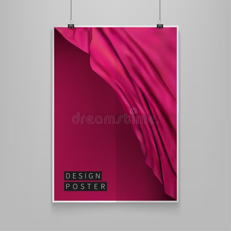 Vektorillustrations-Farbabdeckungen auf Lager Silk Zusammensetzung Futuristischer Designposter Schablonen für Plakate, Fahnen, Fl lizenzfreie abbildung