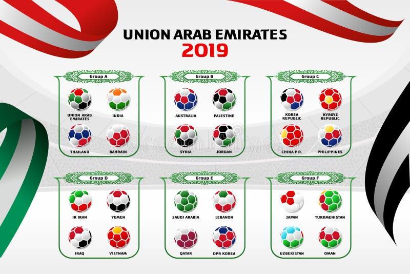 Vektorillustrations-Farbhintergrund Arabische Emirate lizenzfreie abbildung