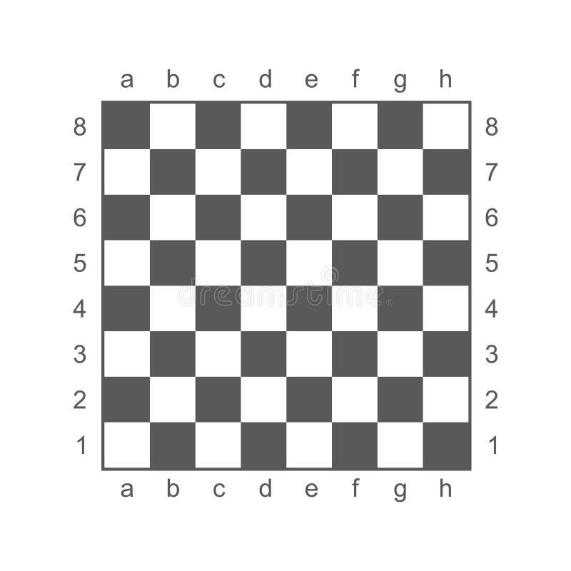 Vektorillustrations-Schachbrett lizenzfreie abbildung