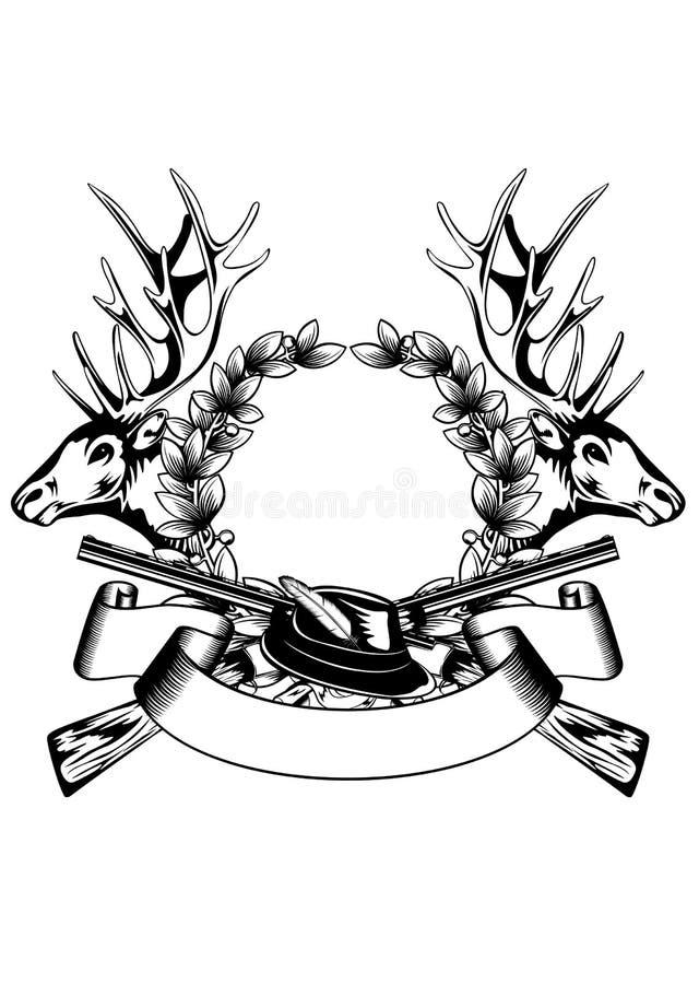 Jagdrahmen mit Hut vektor abbildung. Illustration von nave - 29914027