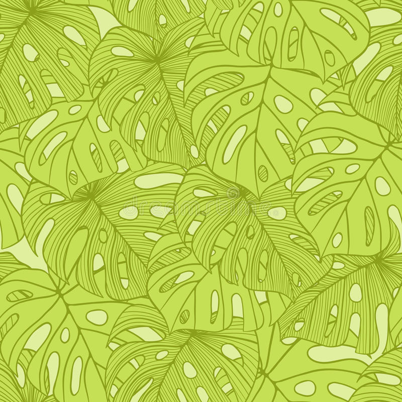 Vektorillustrationsidor av palmträdet seamless stock illustrationer