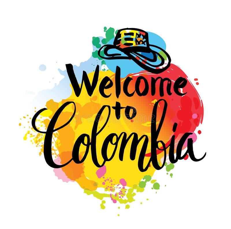 Vektorillustrationsjälvständighetsdagen av Colombia vektor illustrationer