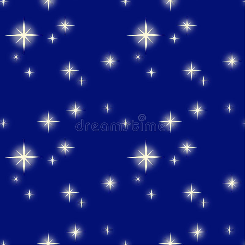 Vektorillustrationsmuster einer sternenklaren Nacht vektor abbildung