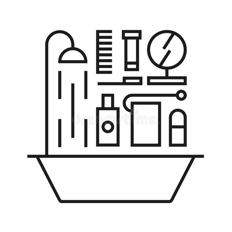 Vektorillustrationsymbolen ställde in av bad stock illustrationer
