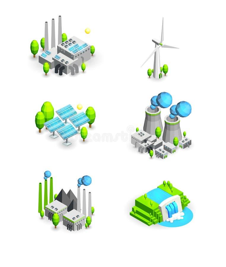 Vektorillustrationsymboler stock illustrationer