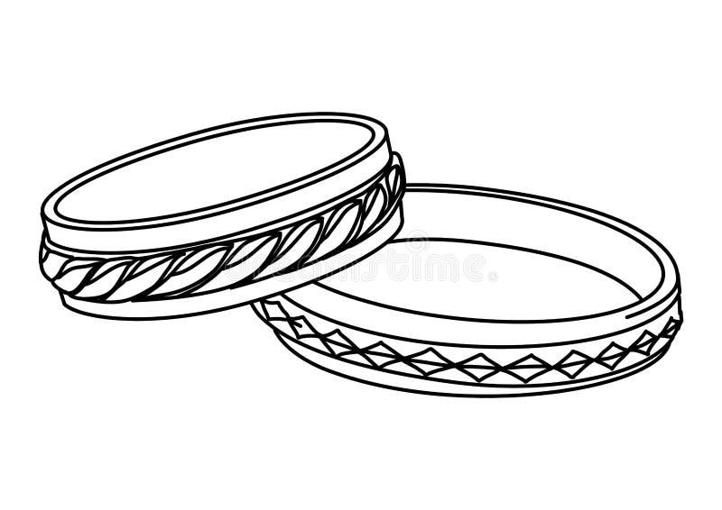 Vektorillustrationvigselringar stock illustrationer
