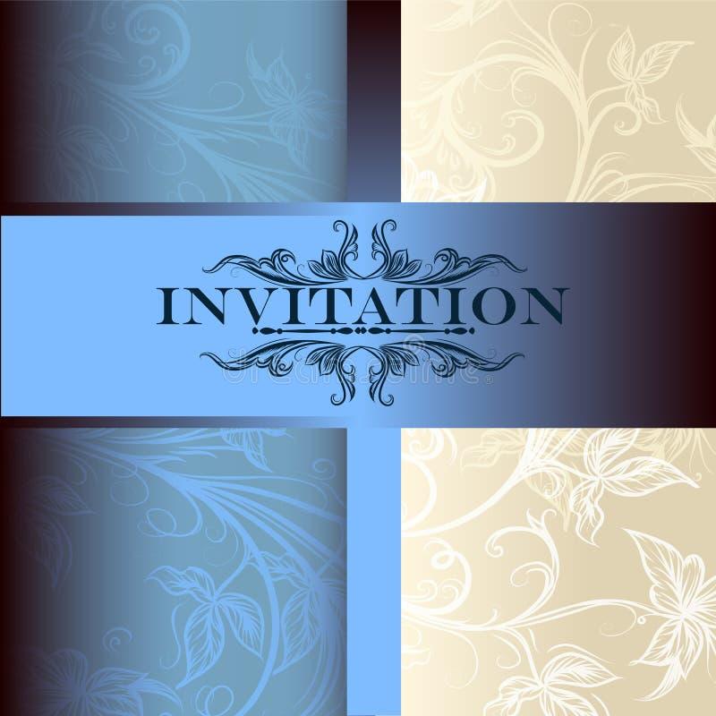 Vektorinbjudankort för design royaltyfri illustrationer