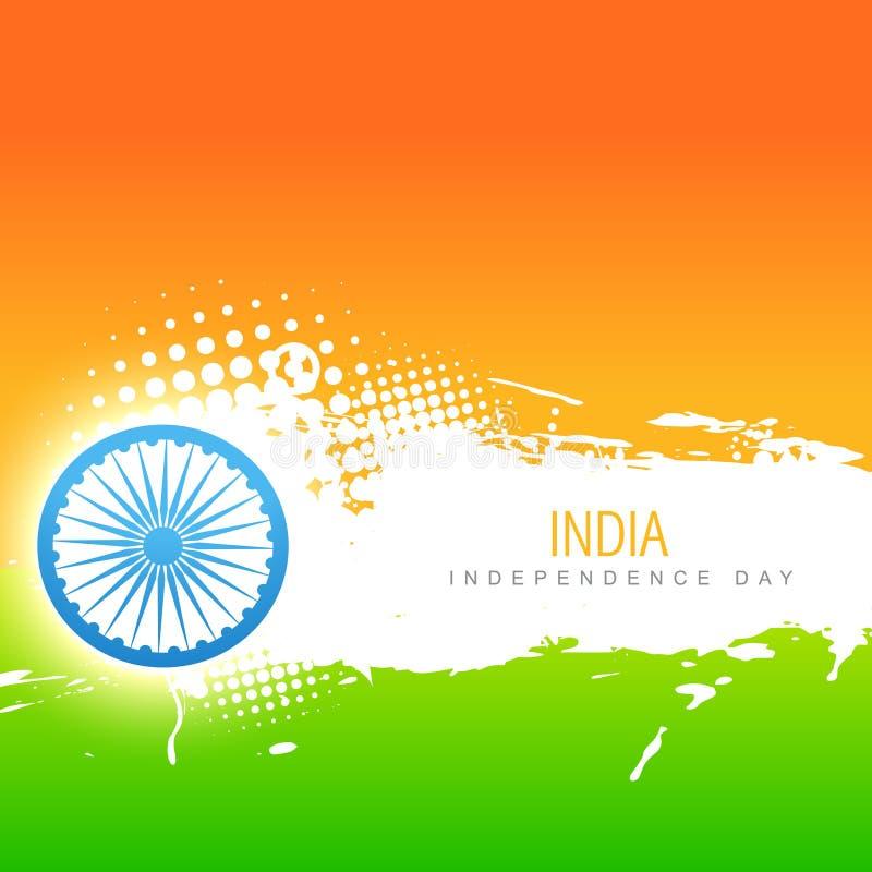 Vektorindia flagga vektor illustrationer