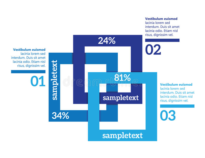 Vektorinfographic Elemente stock abbildung
