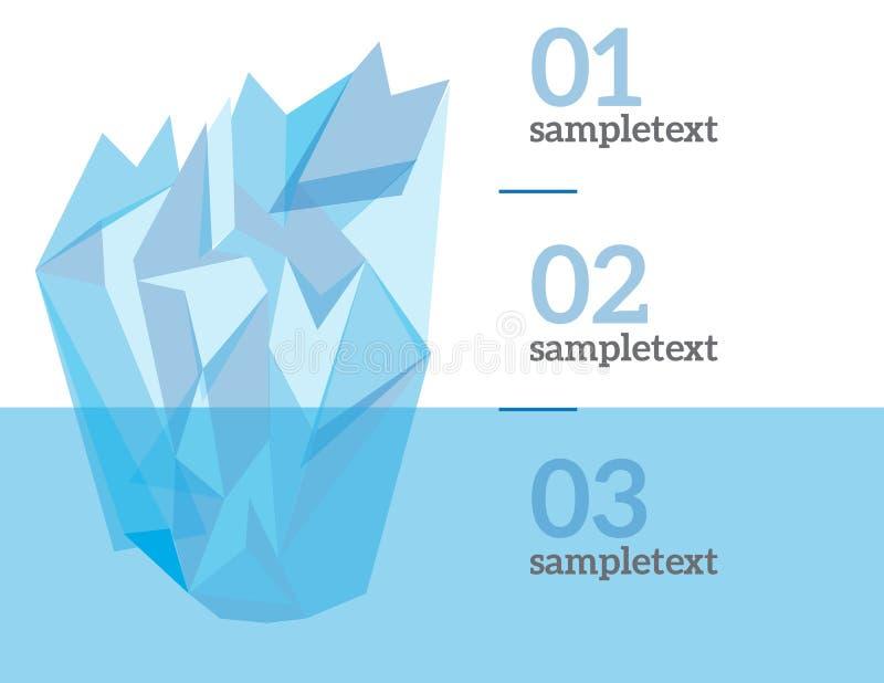 Vektorinfographic Elemente lizenzfreie abbildung