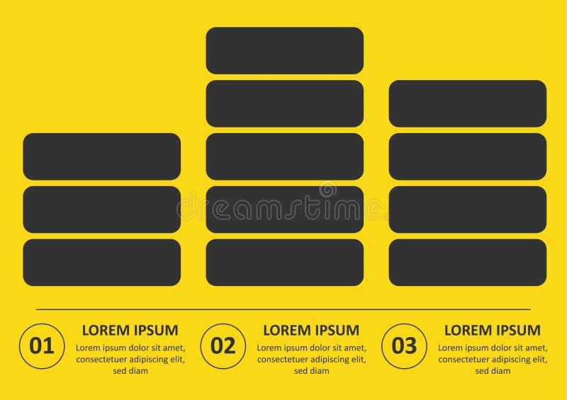 VektorInfographic tunn linje design med symboler och 3 alternativ eller moment Infographics f?r aff?rsid? kan anv?ndas f?r stock illustrationer