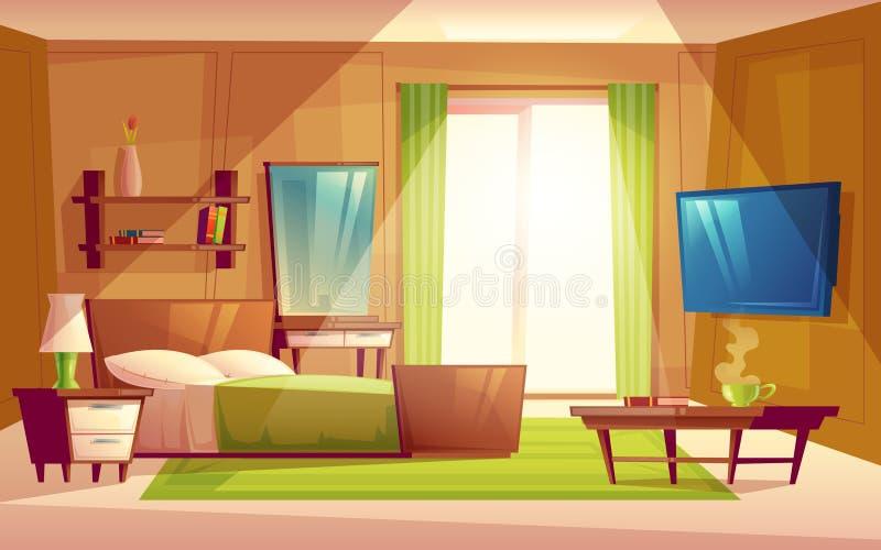 Vektorinnenraum des Schlafzimmers, Wohnzimmermöbel