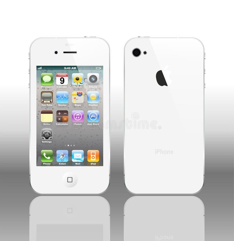 VektorIphone 4 white royaltyfri illustrationer
