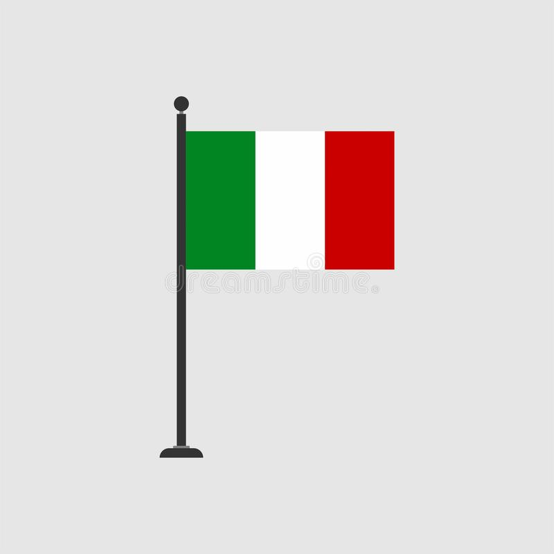 Vektoritalien-Flaggenikone auf Lager 3 stock abbildung