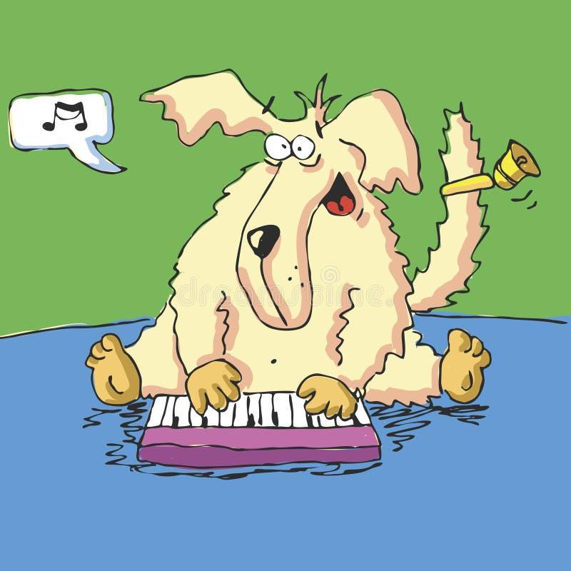 Download Vektorjagdhund Spielt Nizza Musik Vektor Abbildung - Illustration von beschaffenheit, hintergrund: 9094359