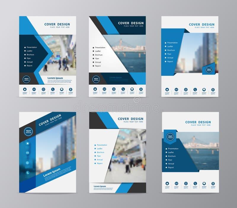 Vektorjahresberichtbroschürenflieger-Designschablone lizenzfreie abbildung