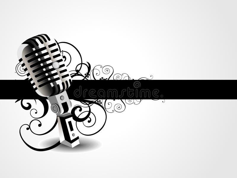 Vektorkünstlerischer mic-Hintergrund stock abbildung