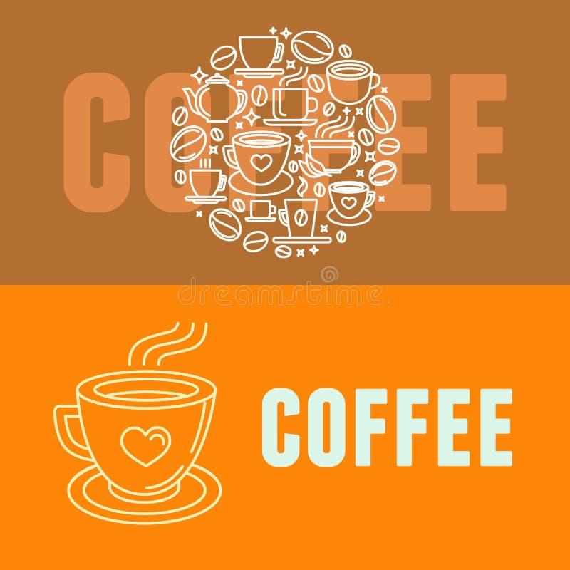Vektorkaffebaner vektor illustrationer