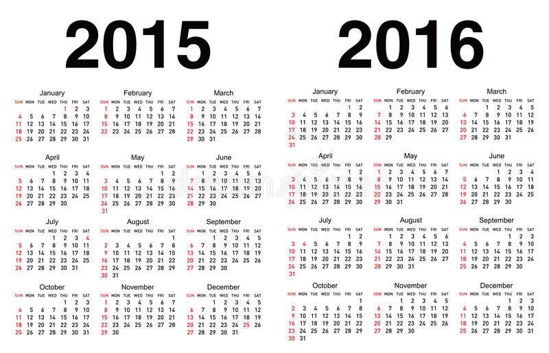 Vektorkalendermall vektor illustrationer