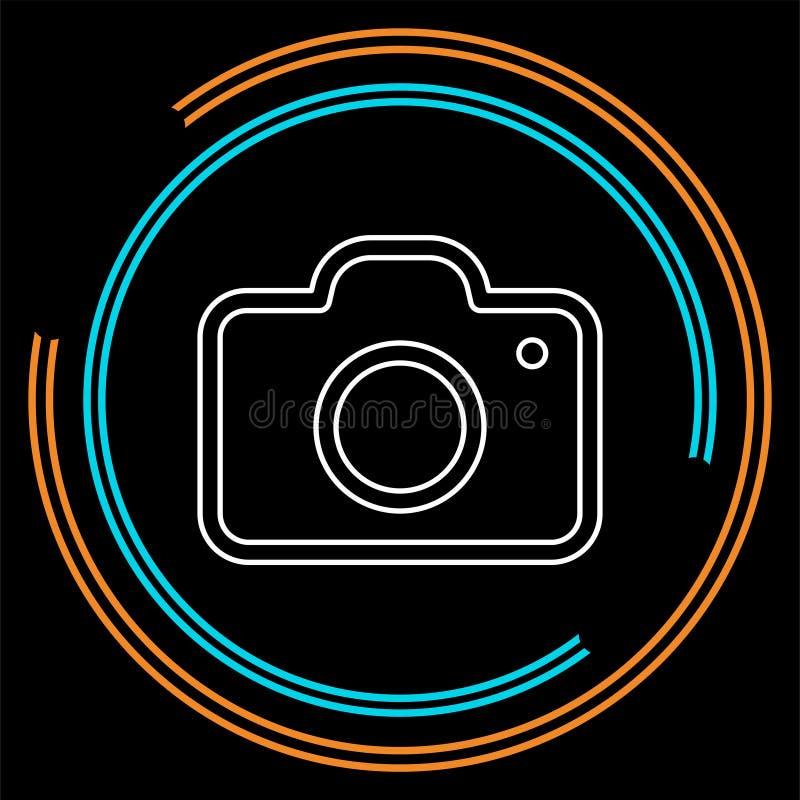 Vektorkamerasymbol - symbol för digitalt fotografi stock illustrationer