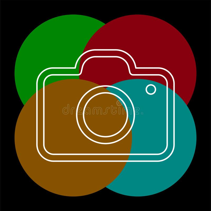 Vektorkamerasymbol - symbol f?r digitalt fotografi vektor illustrationer